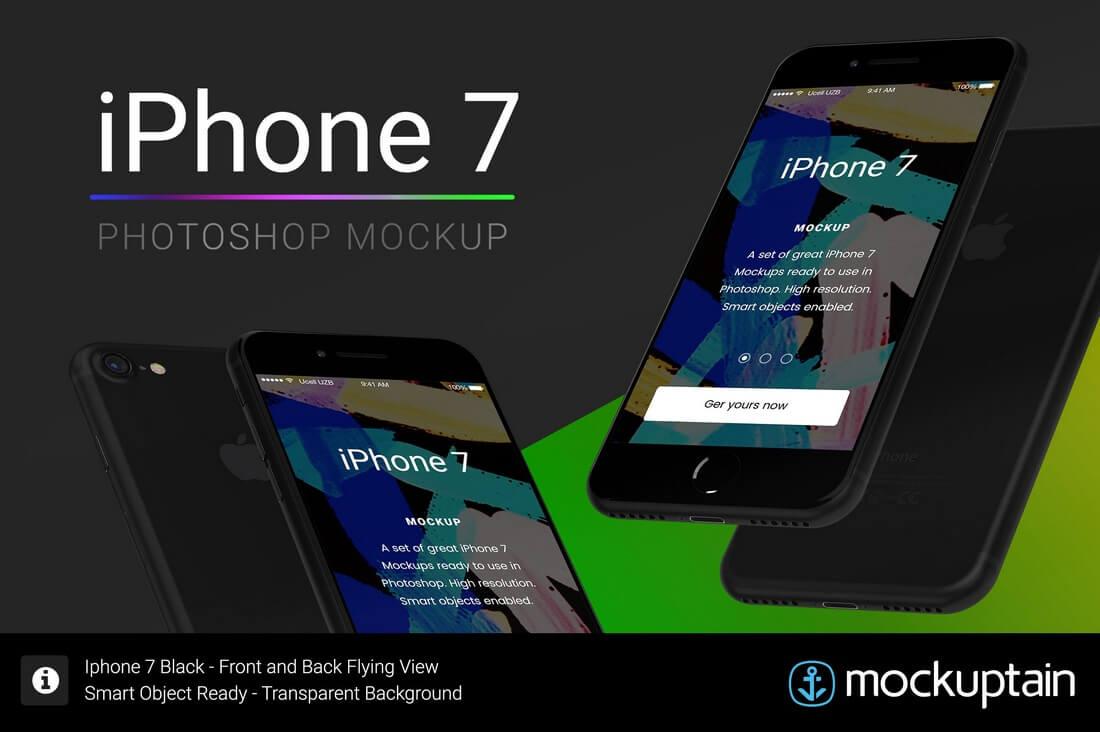 iphone-7-mockup-flying-black