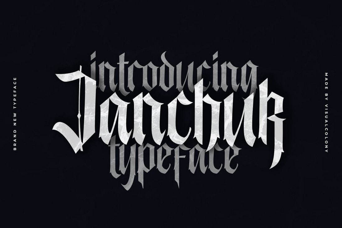 Janchuk Gothic Font