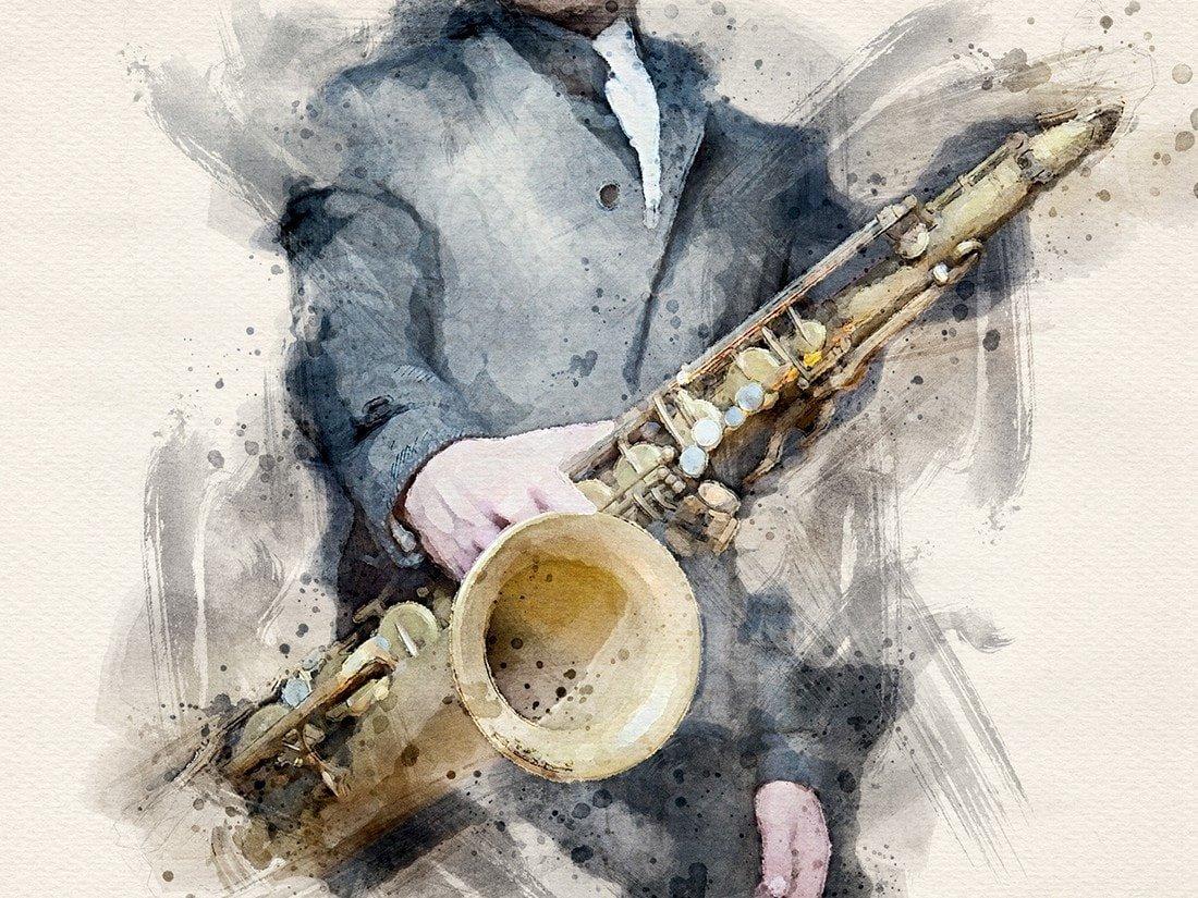Jazzman - Free Watercolor Photoshop Action