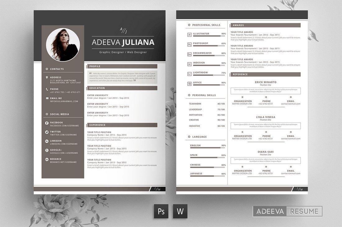 Julianna - Modern Resume Template