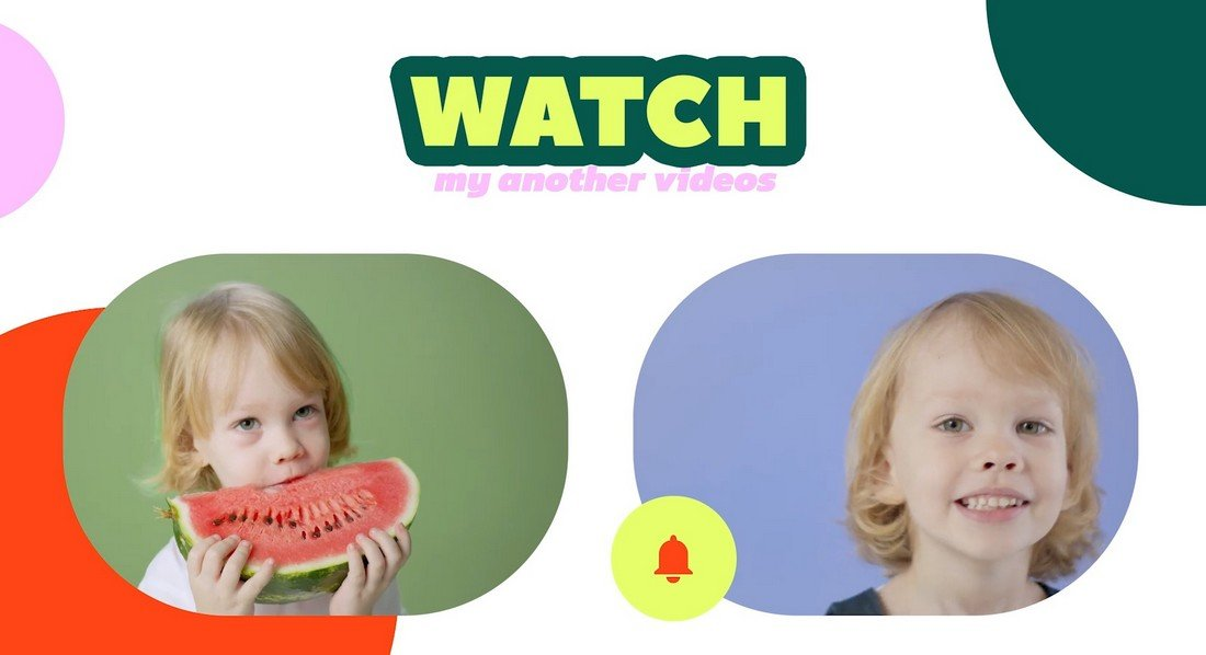 Kid's YouTube End Screen Templates