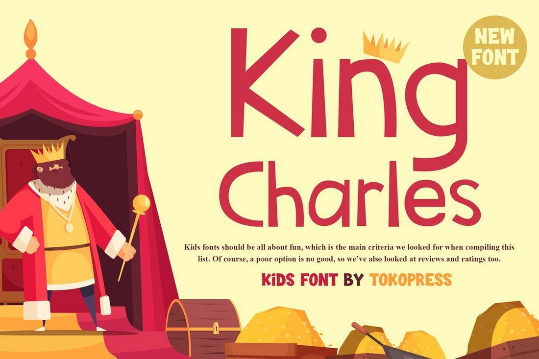 King Charles - Kids Cartoon Font