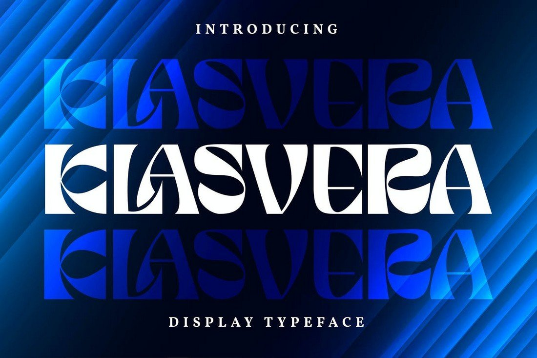Klasvera - Narrow Display Typeface Font