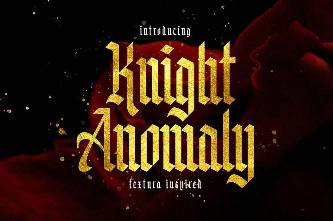 Knight Anomaly - Utopian Gothic Font
