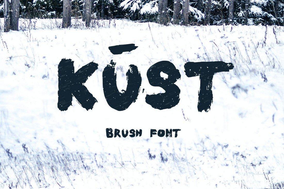 Kust - Thick Brush Font