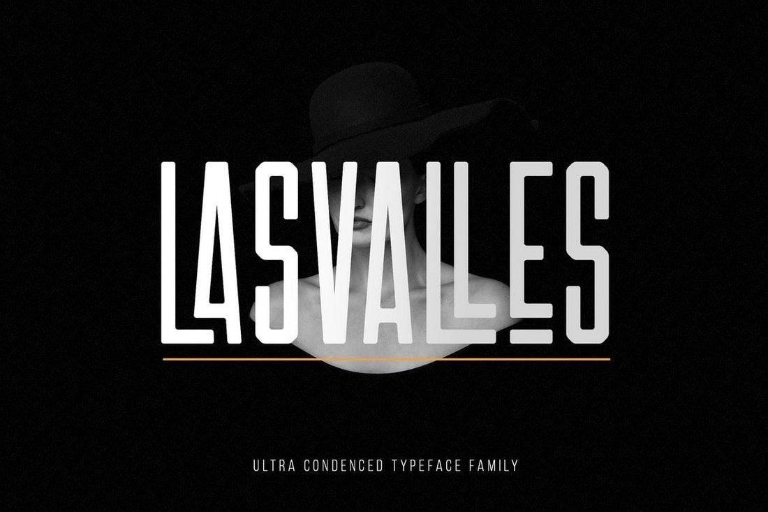 Las Valles - Ultra Condensed Fonts