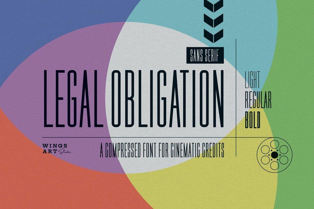 Legal Obligation - Compressed Font Family