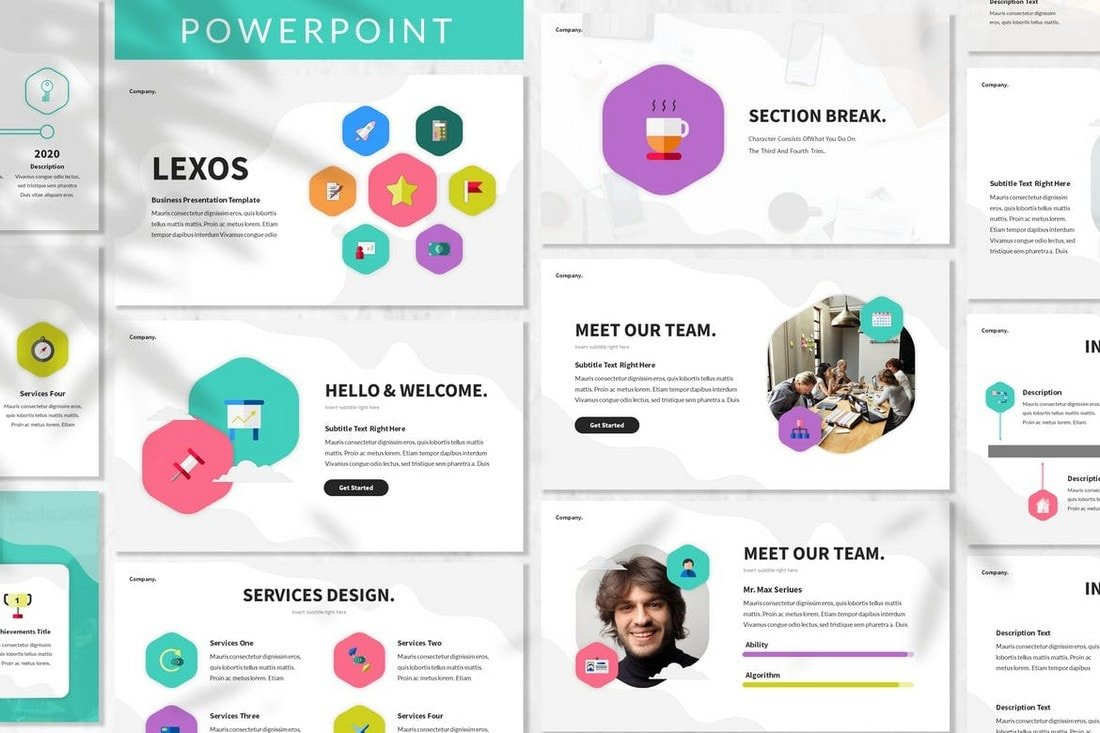 Lexos - Minimal Startup Powerpoint Template