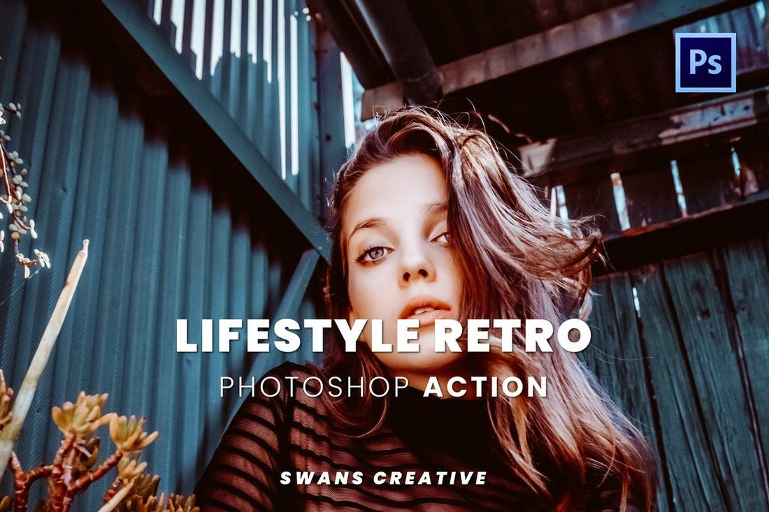 Lifestyle Retro Effect Photoshop Action