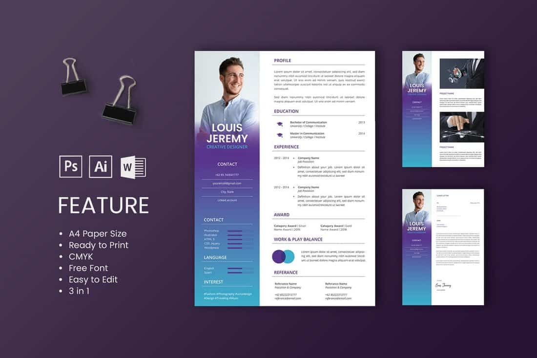 Louis - Professional CV And Resume Template