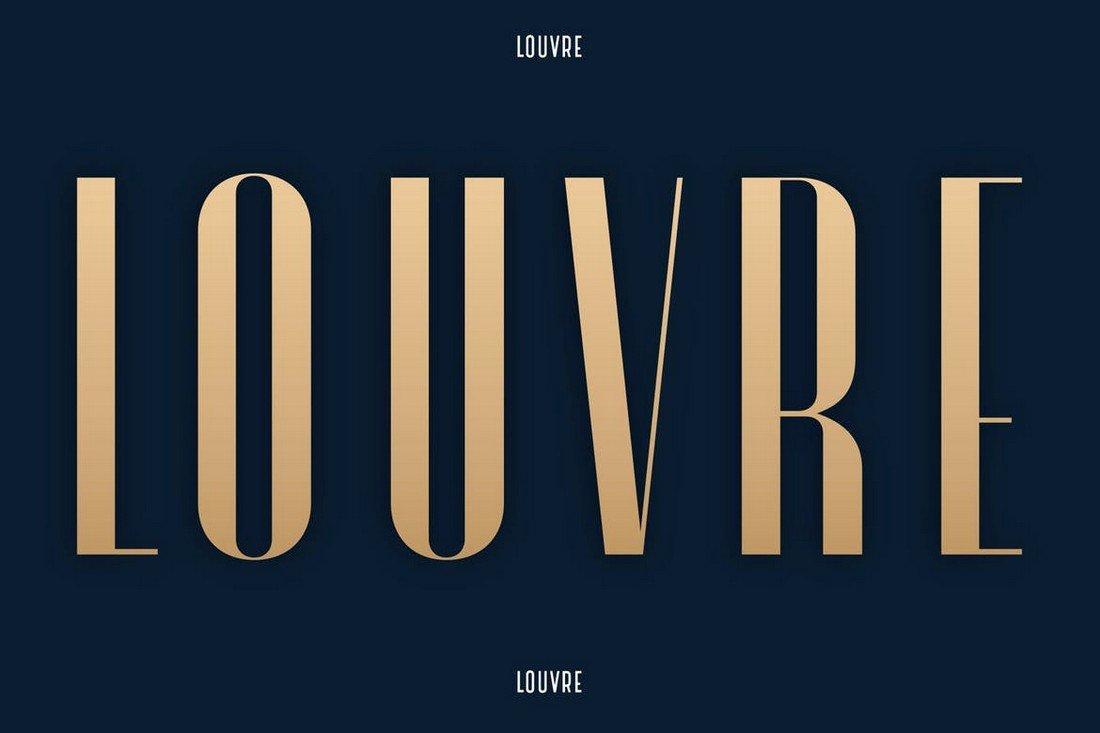 Louvre - Elegant Condensed Font
