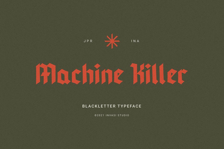 Machine Killer - Flyer font