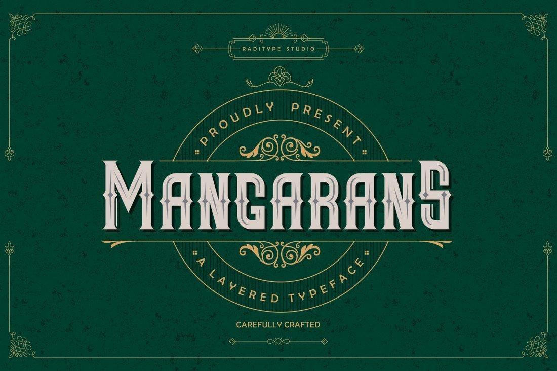 Mangarans - Free Gothic Font