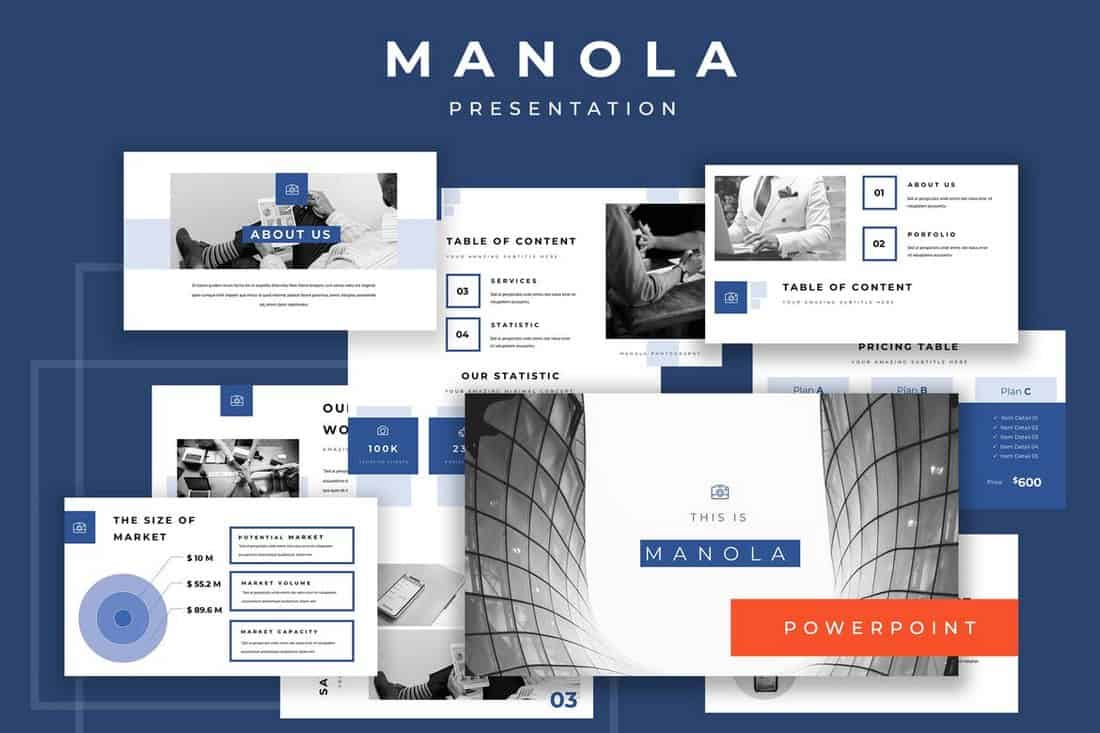 Manola-Startup Pitch Deck Template For PowerPoint