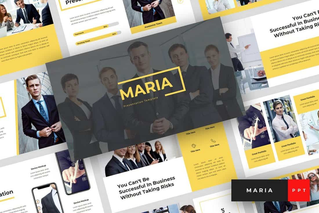 Maria - Pitch Deck PowerPoint Template