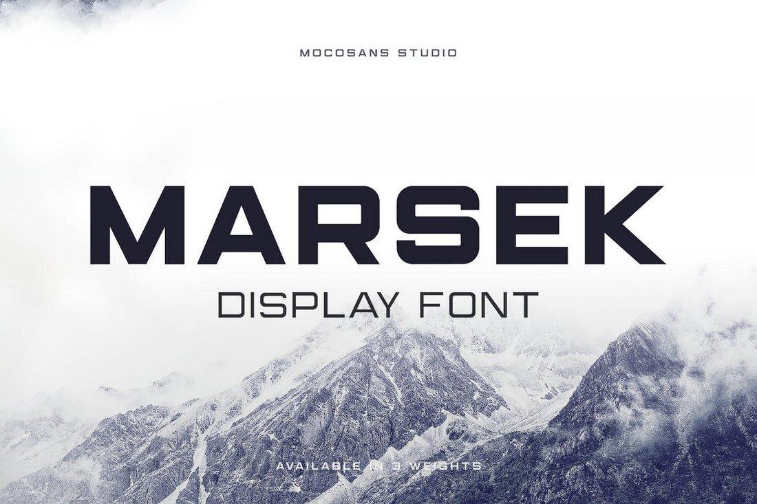 Marsek - A Solid Display Font