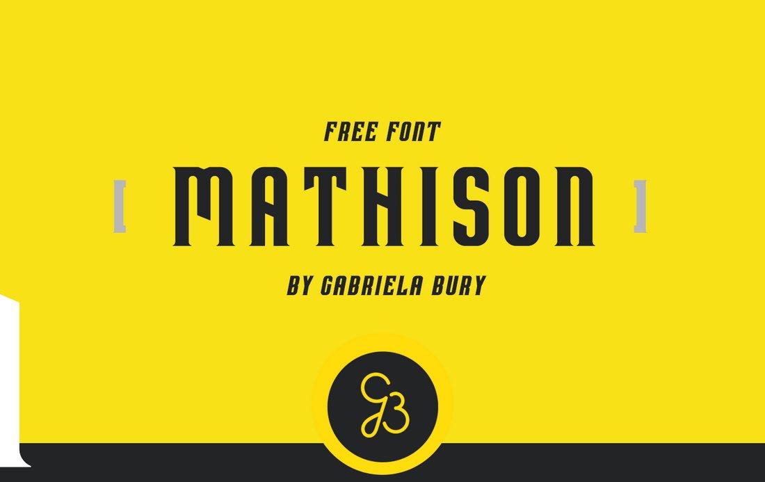 Mathison - Free Serif Display Font