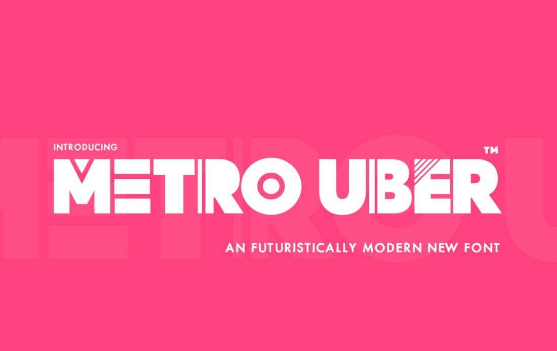 Metro Uber - Free Futuristic Font