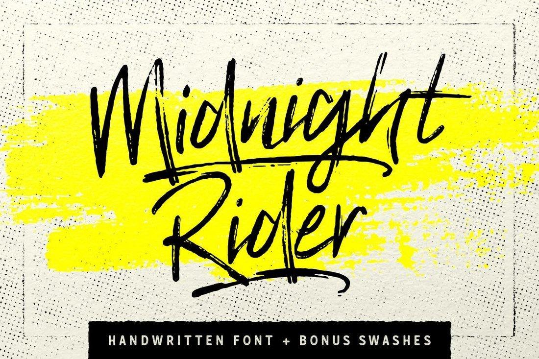 Midnight Rider Handwritten Brush Font