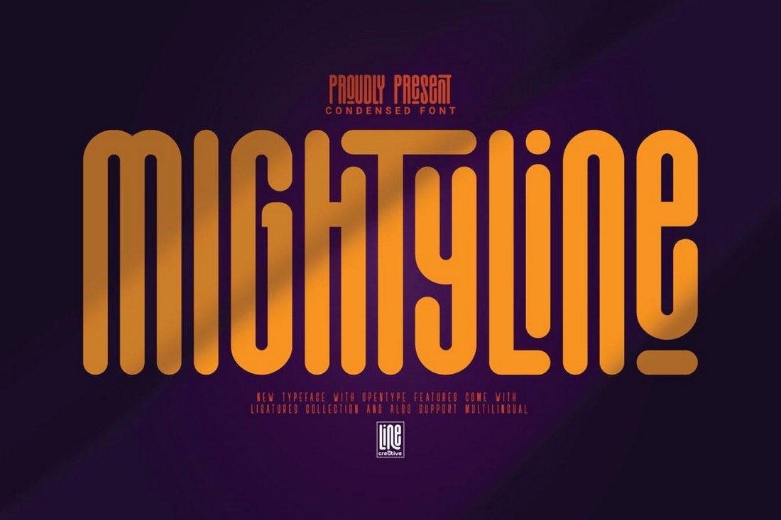 Mightyline - Bold Condensed Font