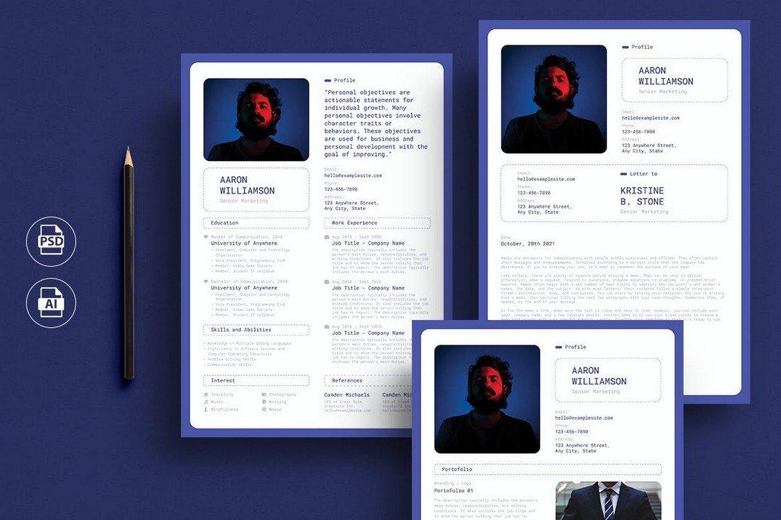 Minimalist Modern CV Template