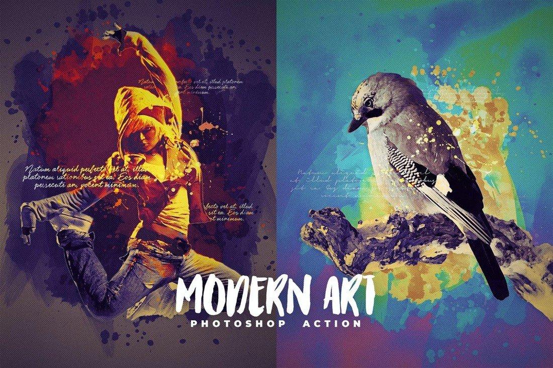 Modern Art Photoshop Action