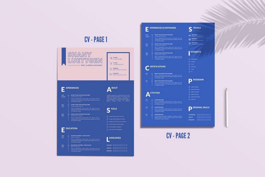 Modern CV Template for Creatives