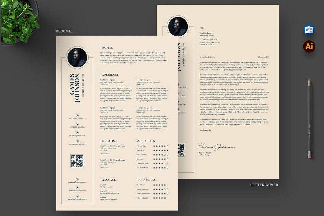 Modern Resume & Cover Letter Template