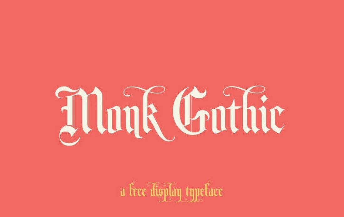 Monk Gothic - Free Gothic Font