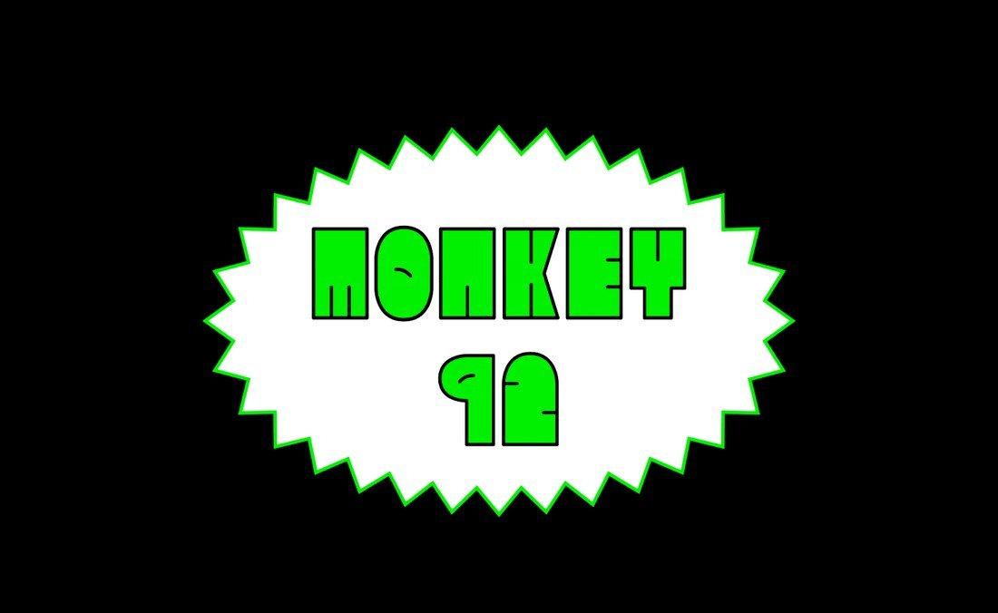 Monkey92 - Fun Thick Font