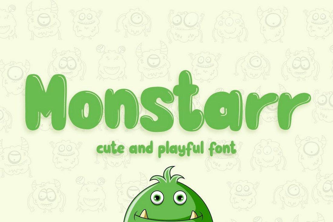 Monstarr - Cute and Playful Handmade Font