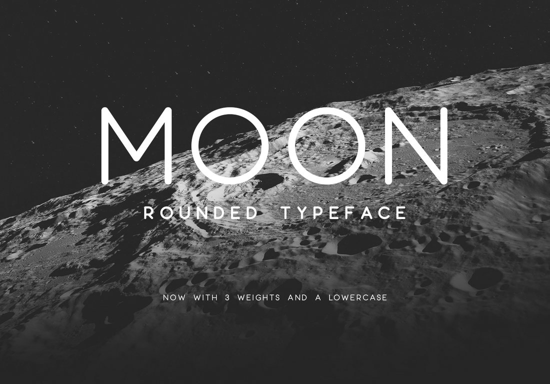 Moon - Modern Rounded Typeface