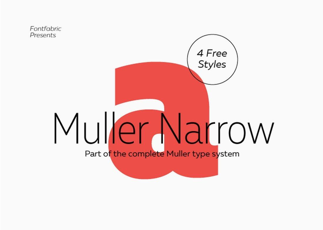 Muller Narrow - Free Condensed Font