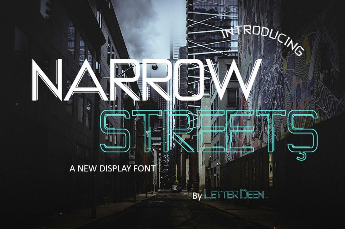 NARROW STREETS - Free Display Font