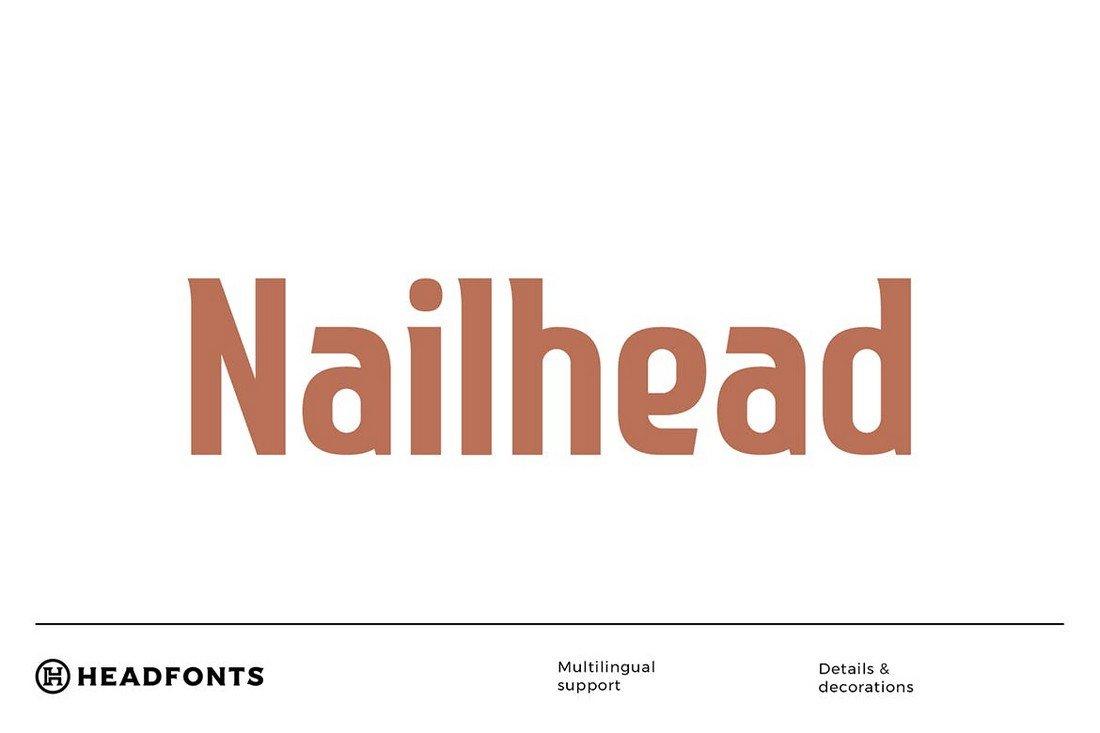 Nailhead - Bold Modern Condensed Font