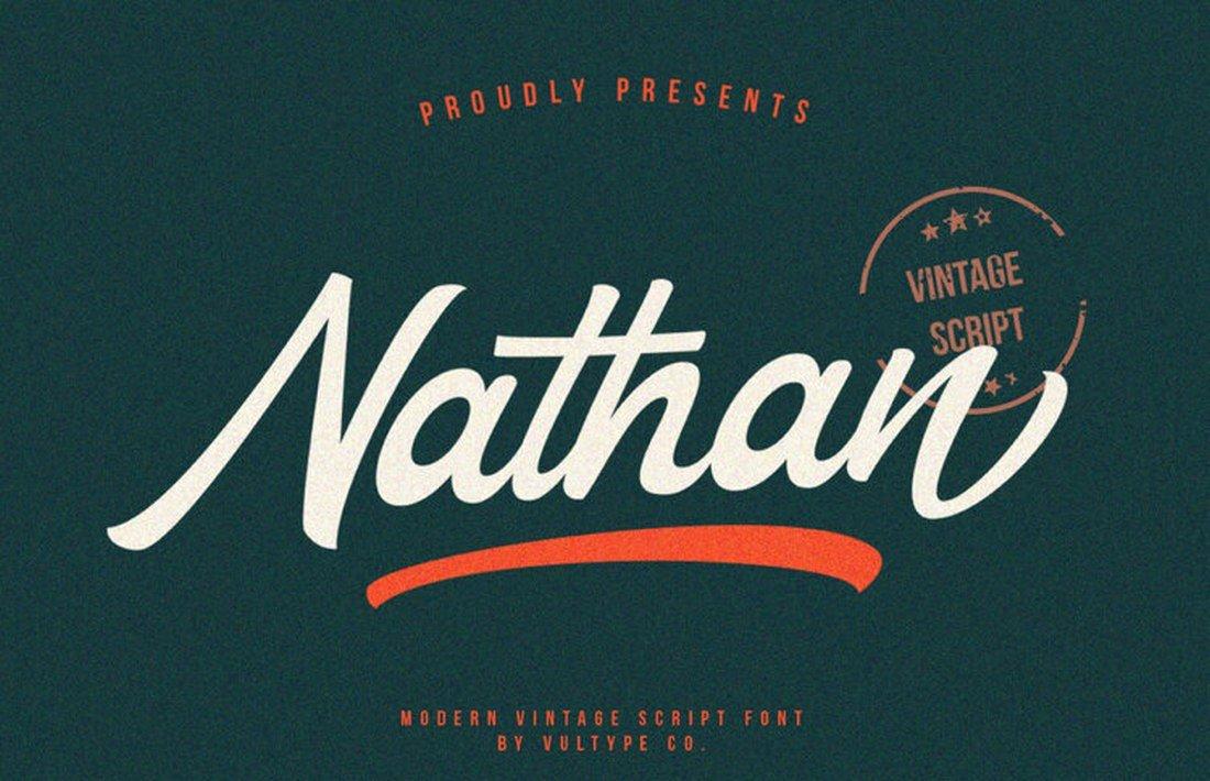 Nathan - Free Vintage Script Font