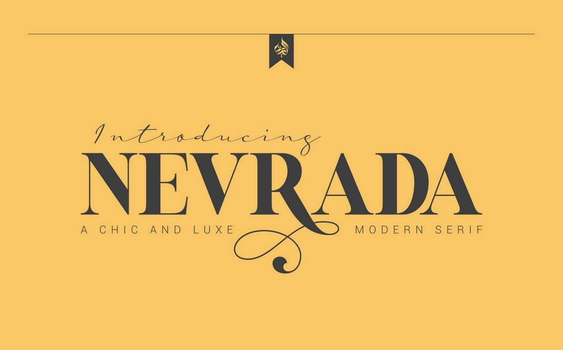 Nevrada - Free Chic & Luxury Font