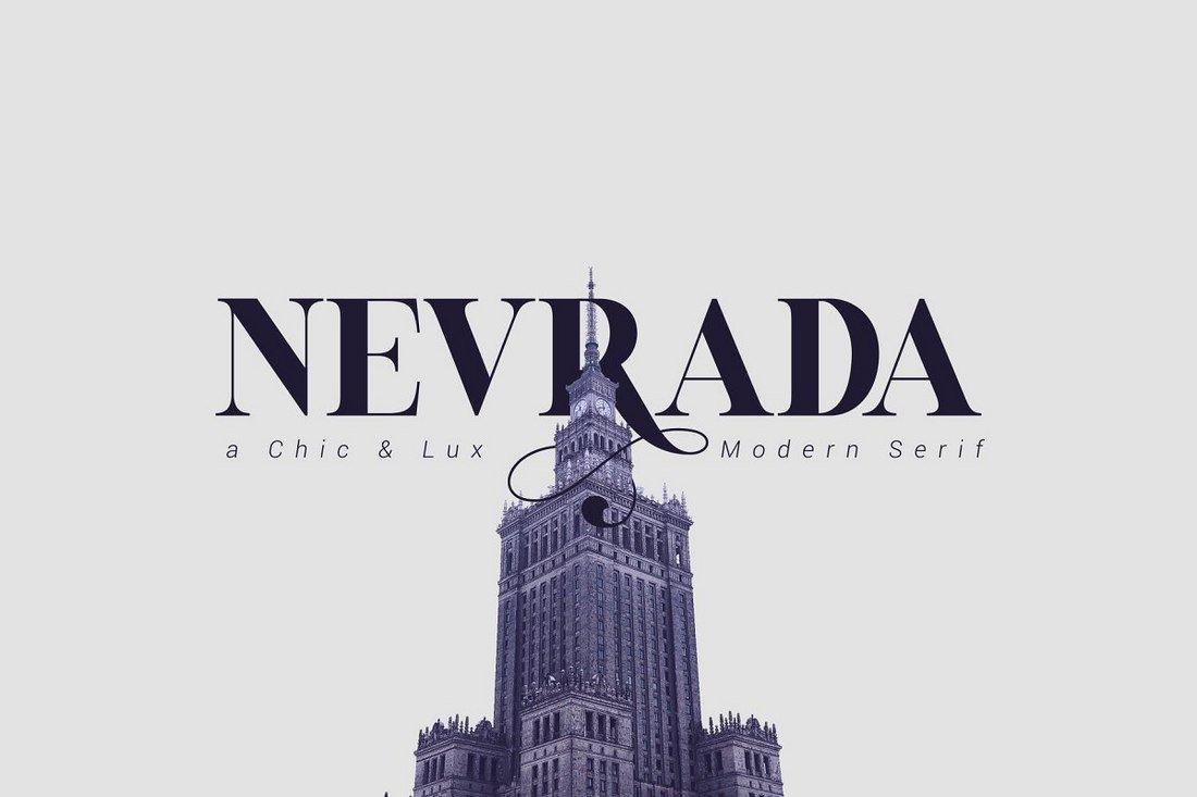 Nevrada Free serif Font