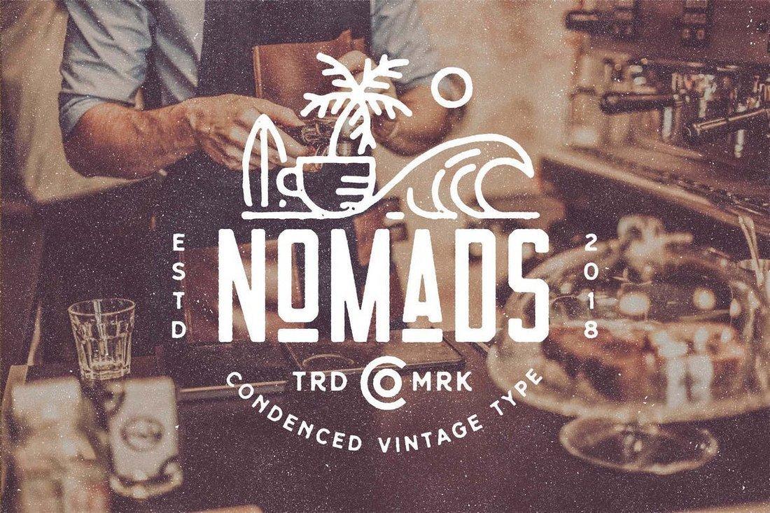 Nomads - Condensed Font