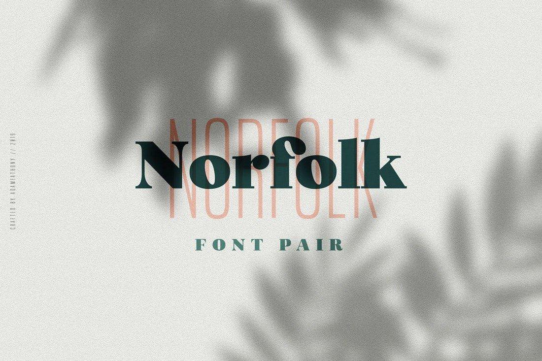 Norfolk - Creative Font Pair