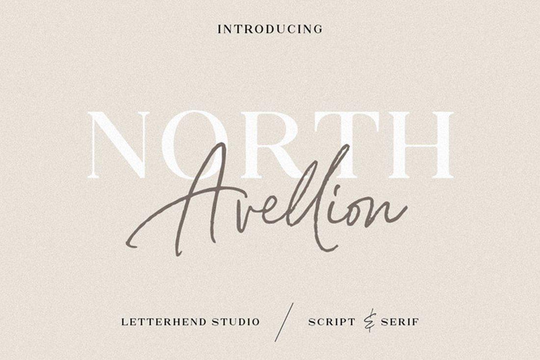 North Avellion - Free Font Duo