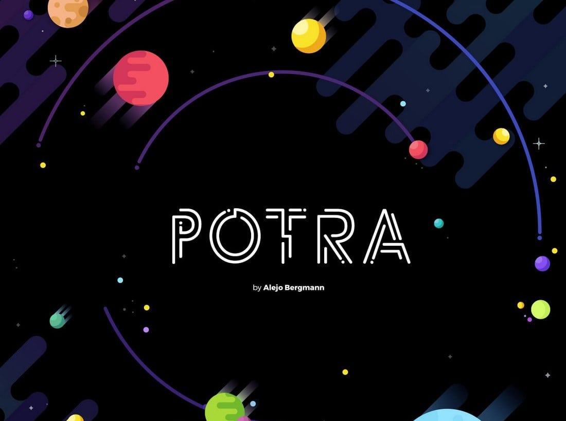 Potra - Free Futuristic Font