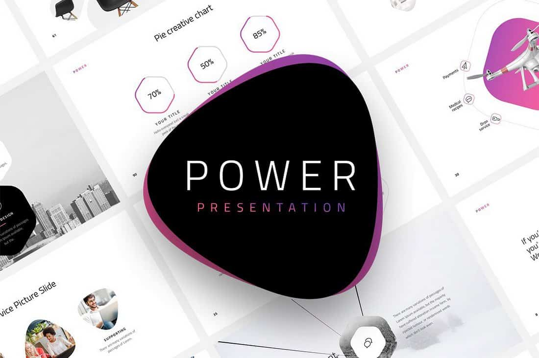 Power - Free Startup PowerPoint Template