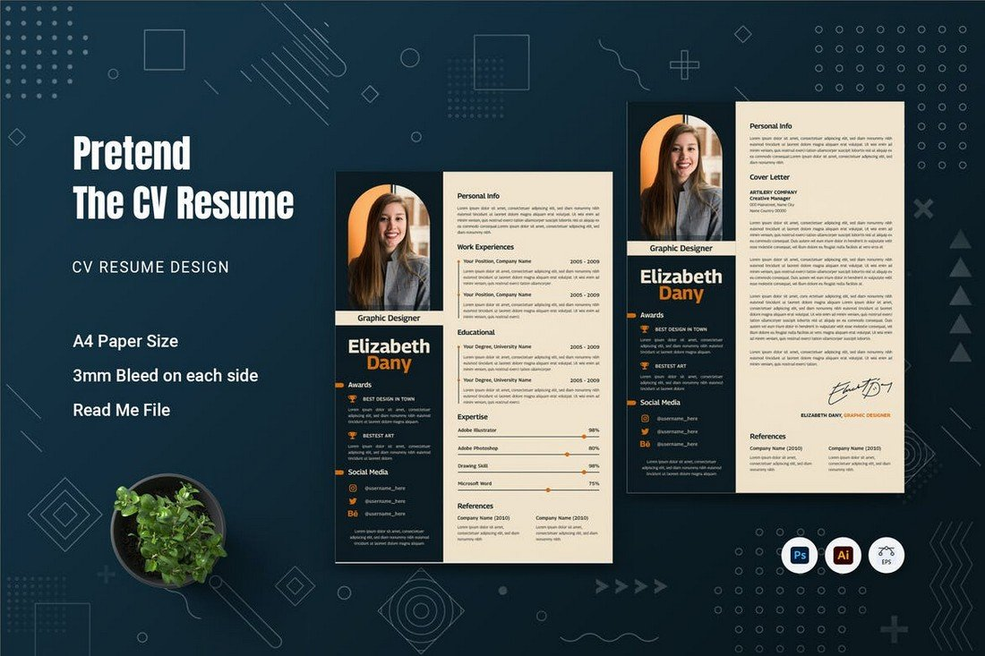 Pretend - CV Resume Template