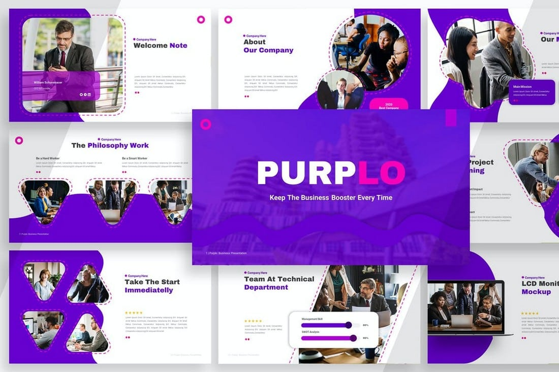 Purplo - Business PitchDeck Powerpoint Template