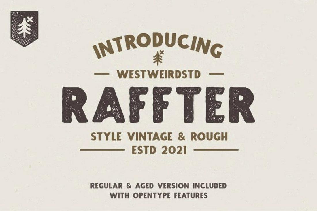 RAFFTER - Free Rustic Font