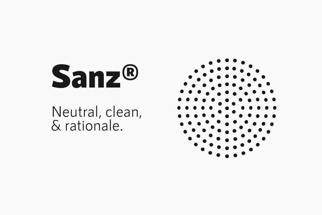 RNS Sanz - Clean Sans-Serif Font Family