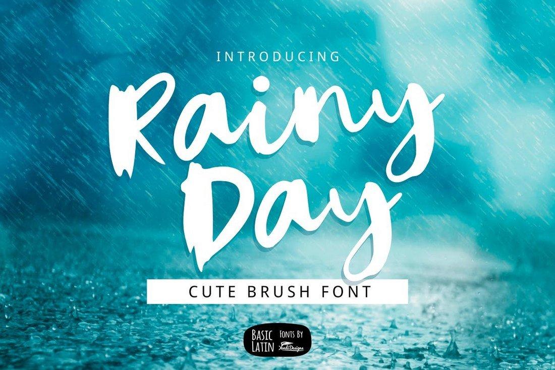 Rainy Day - Unique Brush Font