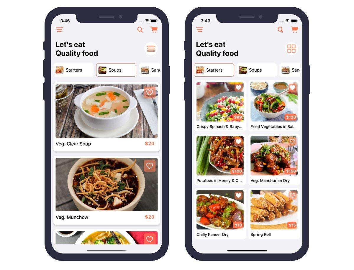 Restaurant Food Ordering iOS App Template