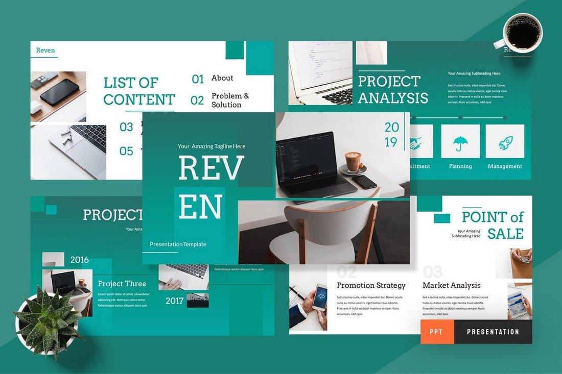Reven - Pitch Deck Powerpoint Presentation